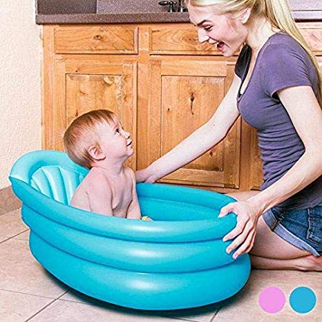 Kiokids 1319 - Bañera hinchable bebé, unisex, color azul ...