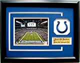 NFL Indianapolis Colts Lucas Oil Stadium Picture Frame with Team Patch and Nameplate, Medium, Black