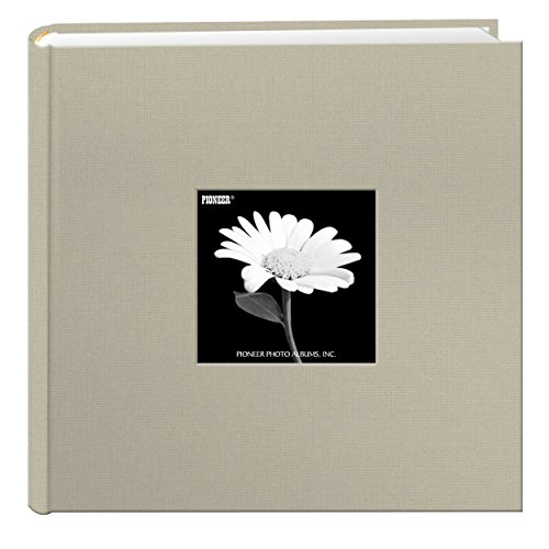 Fabric Frame Cover Photo Album 200 Pockets Hold 4x6 Photos, Biscotti Beige
