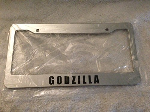 Godzilla Words - Automotive Chrome License Plate Frame - Gtr Style Jdm (Godzilla License Plate Frame compare prices)