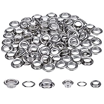200 Sets 1 2 And 1 4 Inch Grommets Eyelets For Canvas Clothes And