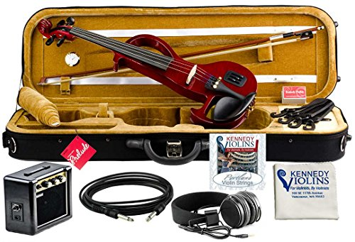 Bunnel EDGE Electric Violin Outfit Rock Star Red Amp Included by Kennedy Violins