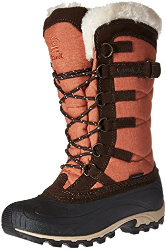 Kamik Kvinners Snowvalley Snø Boot Orange / Brun