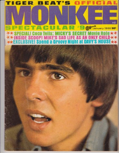 MONKEE SPECTACULAR #9 DAVY JONES Micky Dolenz Centerfold Poster MIKE NESMITH The Monkees PETER TORK Tiger Beat January 1968 (Tiger Beat's Monkee Spectacular)