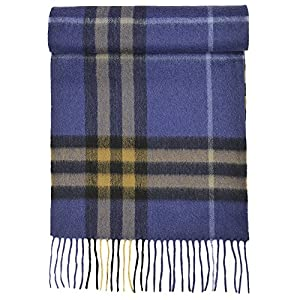 100% Pure Cashmere Scarf for Women, Solid Colors and Plaids, Unisex, Gift Box, Various Sizes, by Candor and Class