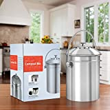 Utopia Kitchen Stainless Steel Compost Bin for