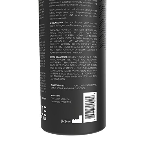Valm Silicone Based Personal Lubricant - Ultra Long Lasting - Sex Lube for Women, Men, and Couples - 8.5 Ounce Pump