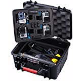Smatree® SmaCase GA700-4 Floaty & Watertight Case with ABS materials- Carrying and Travel Case with an Excellent Ideal Cut Foam for Gopro HD Hero4, 3+, 3, 2, 1 Camera camcorder-(Fits for 4 Cameras)