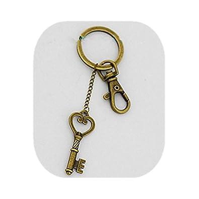 Corazón Clave llavero, llave y candado clave Esqueleto ...
