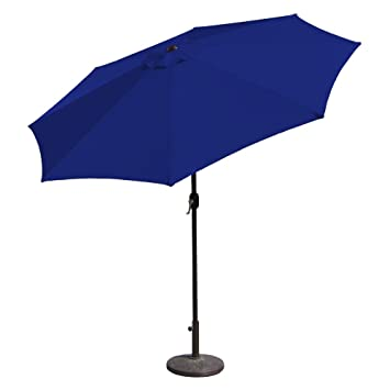 Budge Sunblock Patio Umbrella 7u0027 Diameter With Tilt Aluminum Pole, Royal  Blue