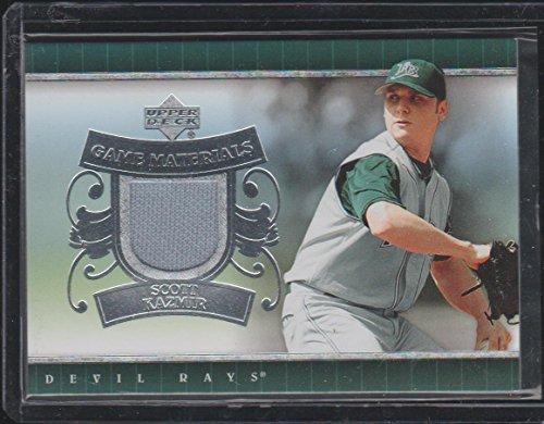 2007 Upper Deck Scott Kazmir Rays Game Used Jersey Baseball Card #UD-SK