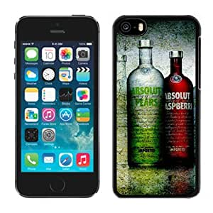 New Beautiful Custom Designed Cover Case For iPhone 5C With Vodka Absolut Phone Case