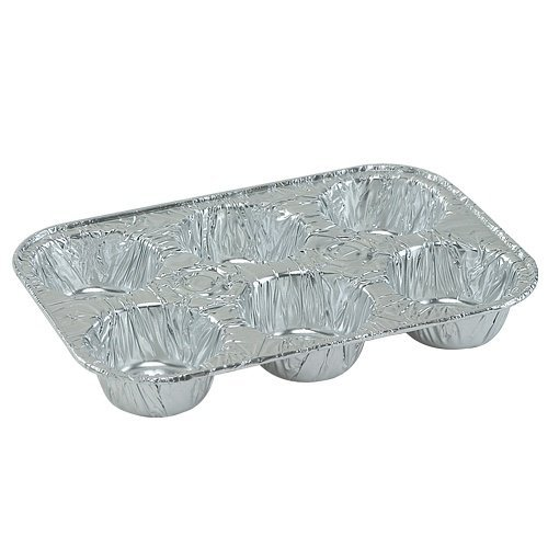 12 Pack Disposable Recyclable Aluminum Foil 6 Muffin Pan