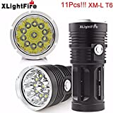 ByBike XLightFire 2800LM 11 x LED Flashlight 4 x 18650 Lamp Torch Perfect for Home and Defense