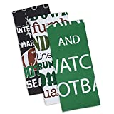 DII Cotton Everything Football Dish Towels, 18 x 28'' Set of 3, Decorative Oversized KitchenTowels for Everyday Cooking and Baking
