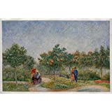 Courting Couples in the Voyer D'argenson Park At Asnieres - Vincent Van Gogh High Quality Oil Painting Reproduction (29.72 X 45.28 In.)