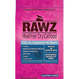 Rawz Dehydrated Cat Food, Salmon, Chicken and Whitefish Recipe Cat Food - 7.8 LB Bag, Fast, by Just Jak's Pet Market 15