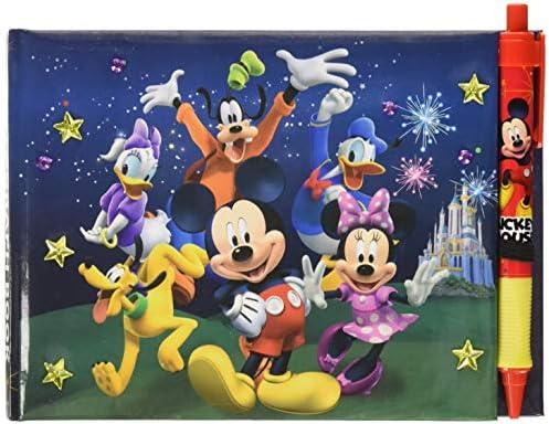 silberner Glitzer und meergr/ün FSSS Ltd Personalisierbares Disney-inspiriertes G/ästebuch mit Mickey-Minnie-K/öpfen Hochzeitsschloss G/ästebuch aus Holz 30 K/öpfe