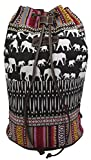Unionbay Girls Women's Hippie Bohemian Style Elephant Aztec Boho Tribal Bucket Bag Backpack (Multi-Elephant)