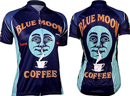 - Retro Women's Blue Moon Coffee Cycling Jersey (XL)