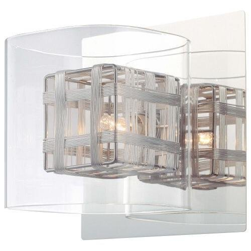 George Kovacs P800-077, Jewel Box, 1 Light Bath Fixture, Chrome by ()