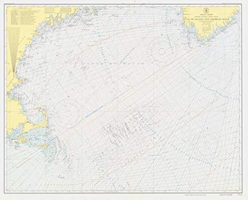 Vintography Professionally Reprinted 18 x 24 Image of 1943 Nautical Chart Loran Chart Gulf of Maine and Georges Bank by US Coast & Geodetic Survey MA, CT, ()