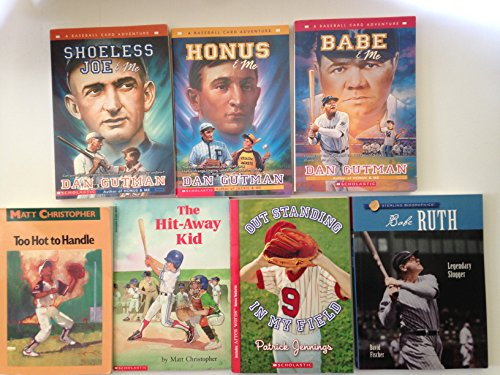 Baseball Card Adventure Series Set Bundle-Gutman- - Shoeless Joe, Honus, Babe + 4 Bonus Youth Baseball Books