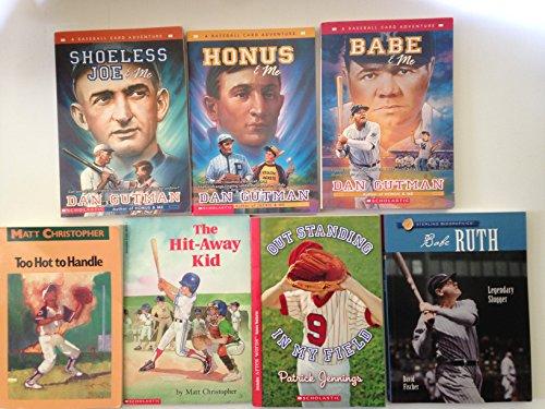 Baseball Card Adventure Series Set Bundle-Gutman- - Shoeless Joe, Honus, Babe + 4 Bonus Youth Baseball Books