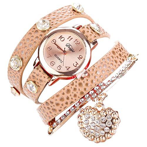 chenqiu Casual Fashion Simple Ladies Bracelet Watch,Fashion Rhinestone Watch Twine Bracelet Women Luxury Quartz Wrist Watches