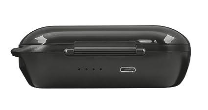 Trust Urban Duet2 - Tapones auditivos Bluetooth inalámbricos y Recargables, Color Negro: Amazon.es: Electrónica