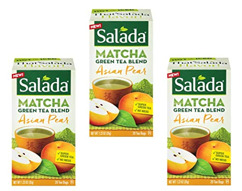 (Salada Matcha Green Tea Blend Asian Pear - 20 Tea Bags (Pack of 3) - 60 Bags Total)