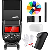 Neewer 2.4G HSS 1/8000s TTL GN36 Wireless Master Slave Flash Speedlite, 12 Color Filters, 3-In-1 Cleaning Kit for Sony A7 A7R A7S A7II A7RII A7SII A6000 A6300 A6500 A77II A58 A99 RX10 Cameras(NW400S)