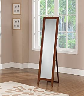 Kings Brand Black Finish Wood Frame Floor Standing Mirror