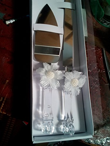 Wedding Bridal Cake Knife And Server, One Set In Gift Box, - Accesories Server