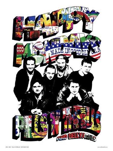 OTW43 onthewall Happy Mondays pillole N Thrills pop art Print poster di parrucca