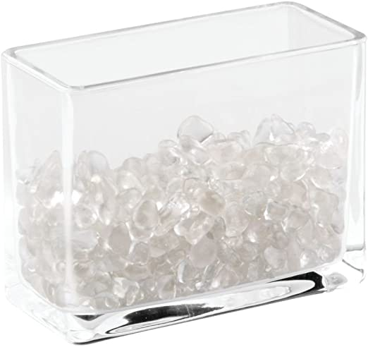 Transparent Glass Organizer Make Up Brush Trinkets Holder Room Display Case