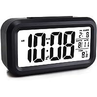 Rubik Loud Digital LED Alarm Clock Large Display with Backlight Temperature Date Month Calendar Snooze for Bedrooms Kids…