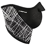Seirus Innovation Neofleece Combo Scarf/Polartec Face Mask/Neck Warmer with Velcro Closure, Black/White, Large