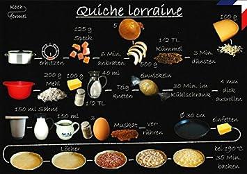 Rezept Postkartefranzösische Küche Quiche Lorraine Amazonde