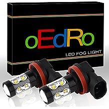 oEdRo Extremely Bright H8 H11 LED Fog Light Bulb High Power 60W @ 1000Lm per bulb for DRL White 6000K(2-Pack)