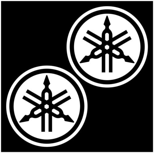 YAMAHA EMBLEM DECALS for ATV MOTORCYCLES DIRT BIKE SNOWMOBILE 2 Stroke, Die cut vinyl decal for windows, cars, trucks, tool boxes, laptops, MacBook - virtually any hard, smooth surface ()