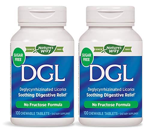 Nature's Way DGL 100 Chewable Tablets (2 Pack, No ()