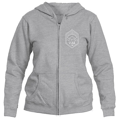 Vail, Colorado Mountain Sun Rays - Women's Full-Zip Hooded Sweatshirt/Hoodie (2X-Large, Sport Grey)