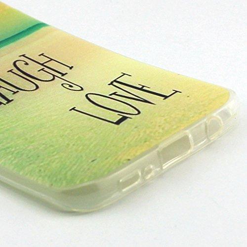 ikasus - Carcasa ultra fina de silicona suave resistente a los arañazos para Galaxy S7 (2016) Live Laugh Love