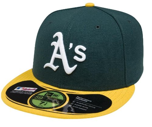 MLB Oakland Athletics Home AC On Field 59Fifty Fitted Cap-778