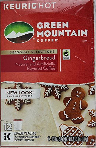 Green Mountain Coffee, Gingerbread, [1 Pack] 12 Count K-Cup PODS (Keurig Gingerbread Coffee compare prices)