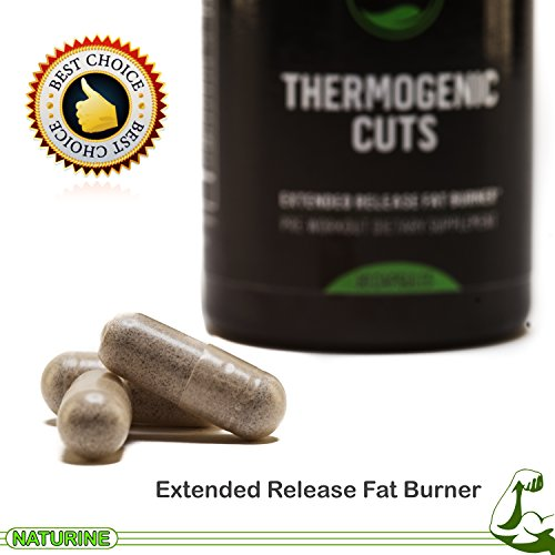 #1 Thermogenic Fat Burner Supplement for Men and Women - Green Tea Extract -Thermogenic Cuts, Extended Release, Pre-Workout, Lose Weight, Perform Better, Increase Metabolism & Mental Focus