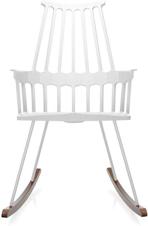 Kartell Comback fauteuil à bascule blanc avec bascule en
