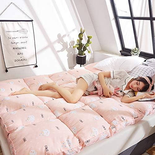 とろみ 印刷 畳敷き マットレストッパー, 折りたためる フェザーベルベット マットレス パッド ベッドのマット 学生寮 フロア パッドを睡眠 布団-F 120x200x8cm