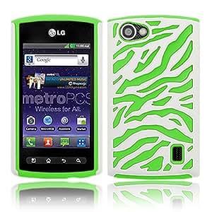 LG Optimus M+ MS695 Hybrid White/Neon Green Zebra Fusion